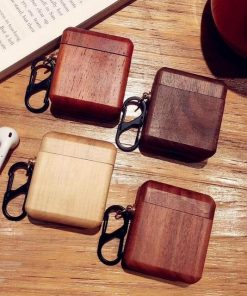 Ash Wood AirPods Case Shock Proof Cover