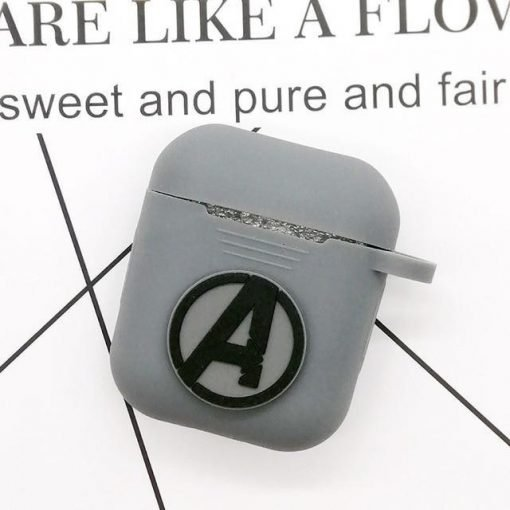 Avengers Grey AirPods Case Shock Proof Cover