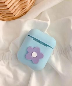 Baby Blue Flower AirPods Case Shock Proof Cover