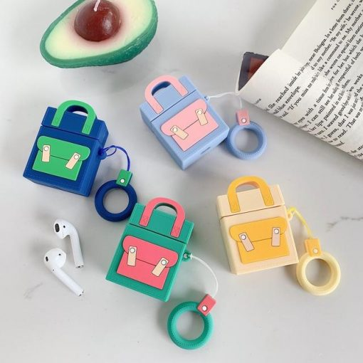 Baby Blue Pocketbook Premium AirPods Case Shock Proof Cover