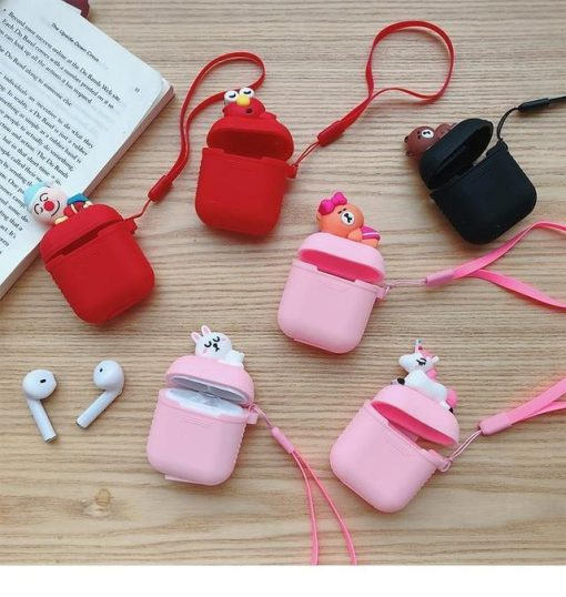 Black Baby Mickey AirPods Case Shock Proof Cover