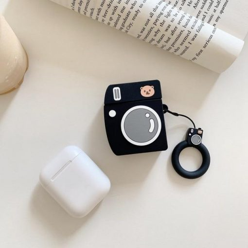 Black Bear Camera AirPods Case Shock Proof Cover