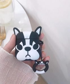 Black Doggy AirPods Case Shock Proof Cover