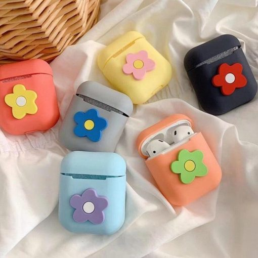 Black Flower AirPods Case Shock Proof Cover