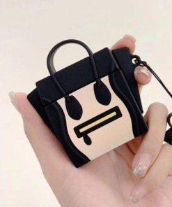 Black Handbag Premium AirPods Case Shock Proof Cover