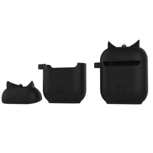 Black Owl AirPods Case Shock Proof Cover