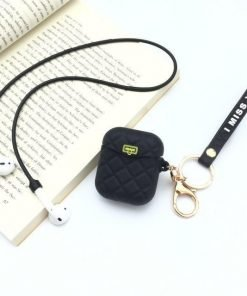 Black Pocketbook AirPods Case Shock Proof Cover