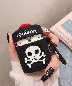 Black Poison Bottle Premium AirPods Case Shock Proof Cover