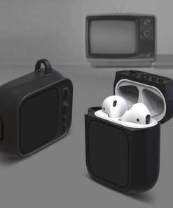 Black Tube TV AirPods Case Shock Proof Cover
