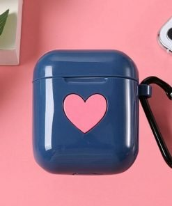 Blue Heart AirPods Case Shock Proof Cover