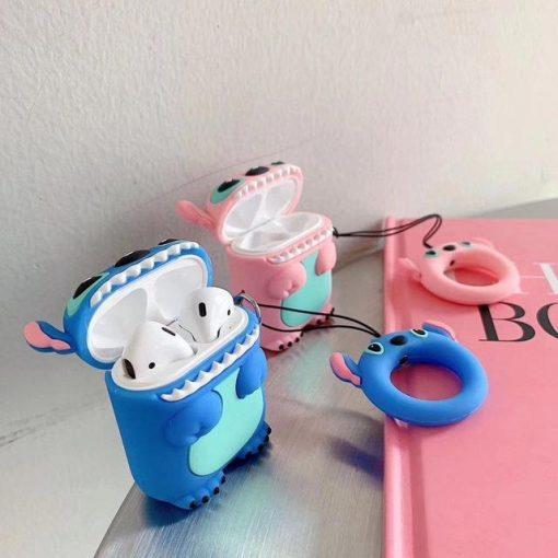 Blue Lilo and Stitch Premium AirPods Case Shock Proof Cover