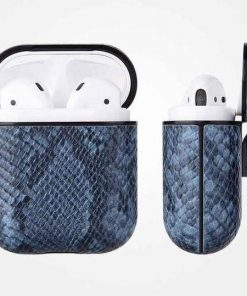 Blue Mamba Snakeskin AirPods Case Shock Proof Cover