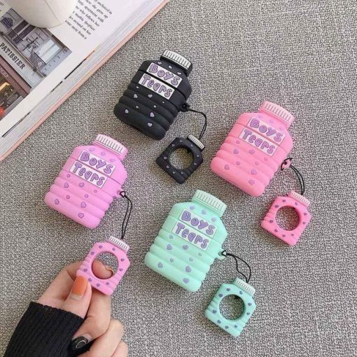 Boy's Tears Bottle 'Pink' Premium AirPods Case Shock Proof Cover