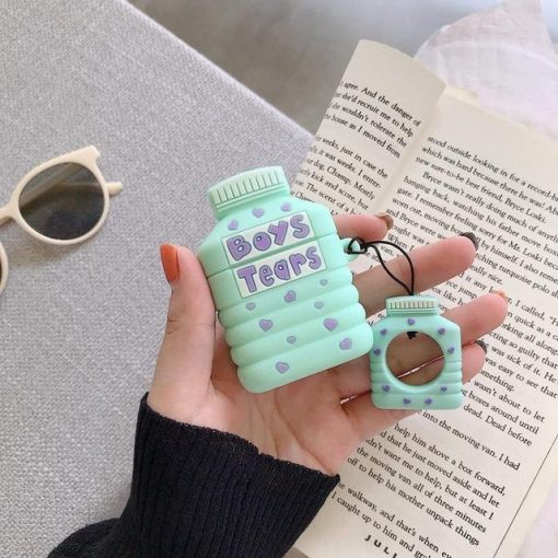 Boy's Tears Bottle 'Tiffany Blue' Premium AirPods Case Shock Proof Cover