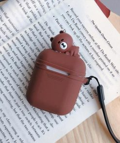Brown Baby Teddy AirpPods Case Shock Proof Cover