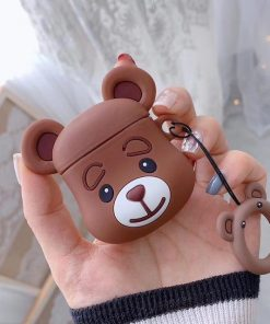 Brown Teddy Bear AirPods Case Shock Proof Cover