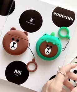 Brown Teddy Bear 'Round' Premium AirPods Case Shock Proof Cover