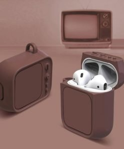 Brown Tube TV AirPods Case Shock Proof Cover