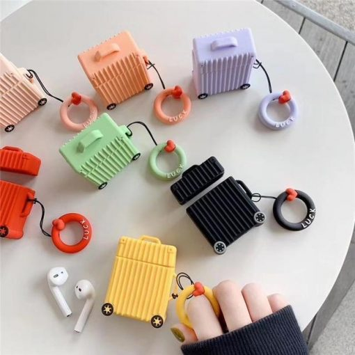 Canary Square Luggage AirPods Case Shock Proof Cover