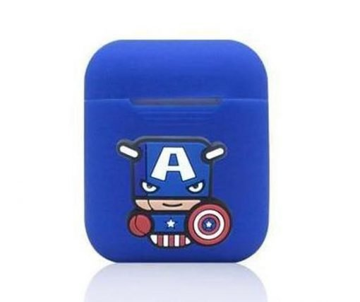 Captain America Action Blue AirPods Case Shock Proof Cover