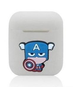 Captain America 'All Business' Grey AirPods Case Shock Proof Cover