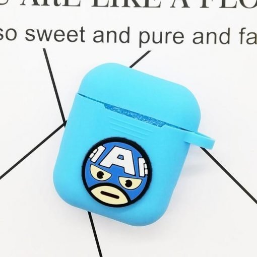 Captain America Blue AirPods Case Shock Proof Cover