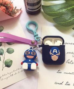 Captain America Comic AirPods Case Shock Proof Cover