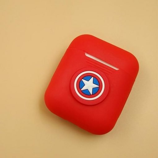 Captain America Logo Red AirPods Case Shock Proof Cover
