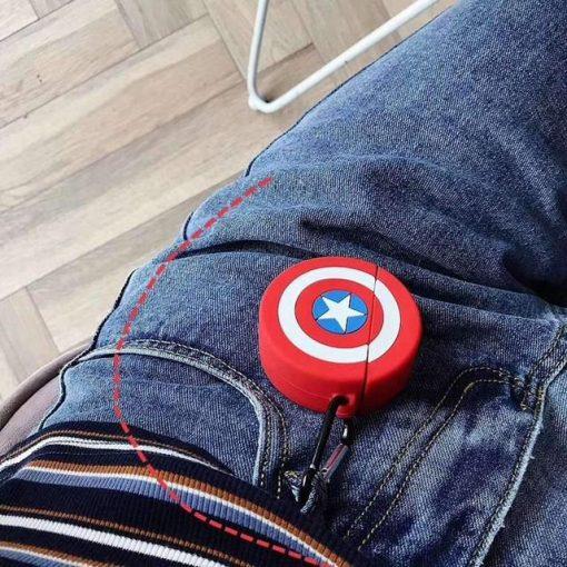 Captain America 'Shield' Premium AirPods Case Shock Proof Cover