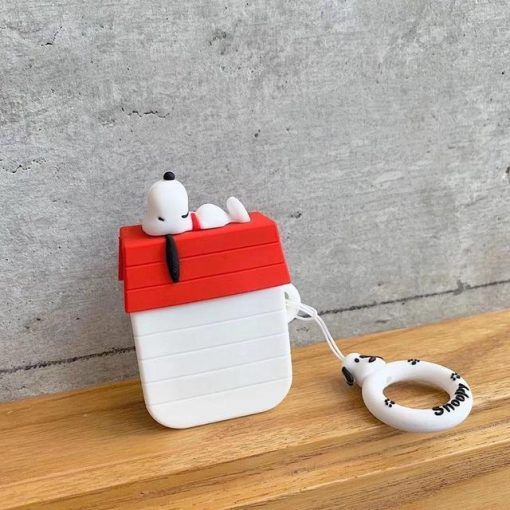 Charlie Brown 'Snoopy on Shed' Premium AirPods Case Shock Proof Cover