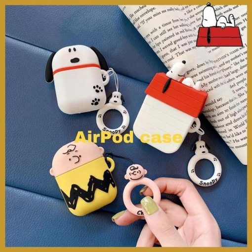Charlie Brown 'Snoopy Pup' Premium AirPods Case Shock Proof Cover