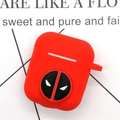Deadpool Logo AirPods Case Shock Proof Cover