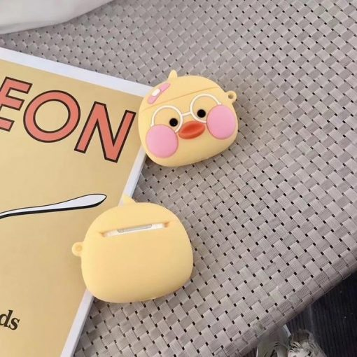 Duck with Glasses Premium AirPods Case Shock Proof Cover
