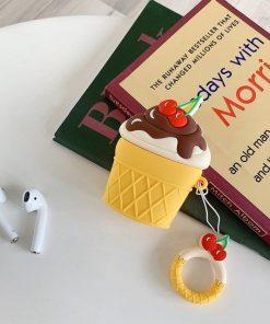 Dulce de Leche w/ Chocolate Fudge Ice Cream Cone Premium AirPods Case Shock Proof Cover