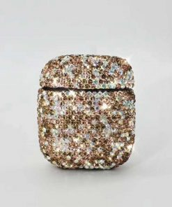 Gold Rhinestone AirPods Case Shock Proof Cover