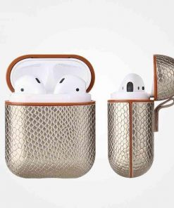 Gold Snakeskin AirPods Case Shock Proof Cover