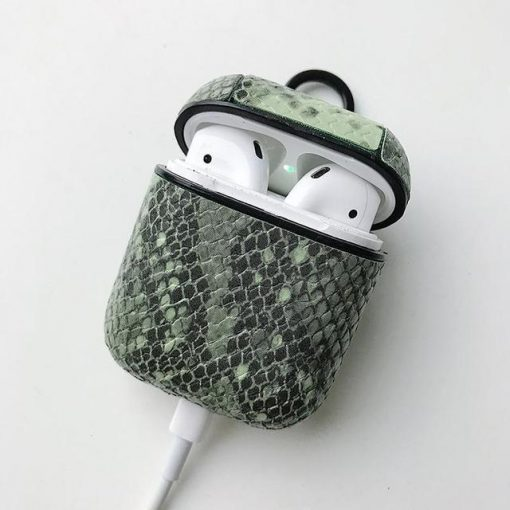 Green Constrictor AirPods Case Shock Proof Cover