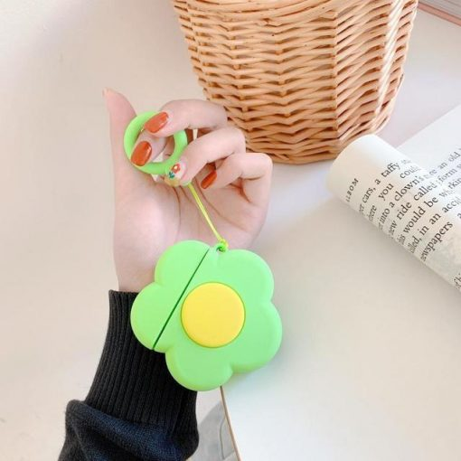 Green Flower Premium AirPods Case Shock Proof Cover