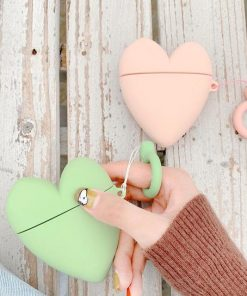 Green Heart Premium AirPods Case Shock Proof Cover
