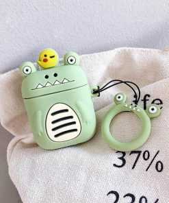 Green Little Monster AirPods Case Shock Proof Cover