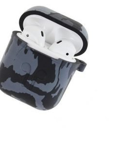 Grey and Blue Paint AirPods Case Shock Proof Cover