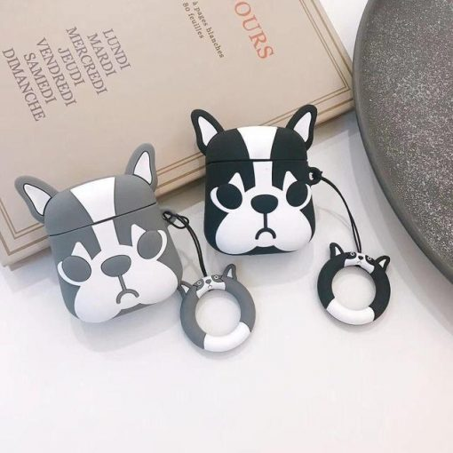 Grey Doggy AirPods Case Shock Proof Cover
