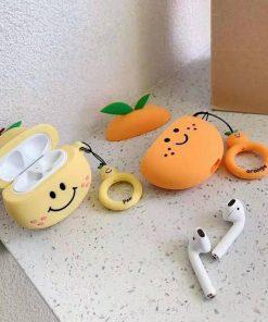 Happy Peach Premium AirPods Case Shock Proof Cover