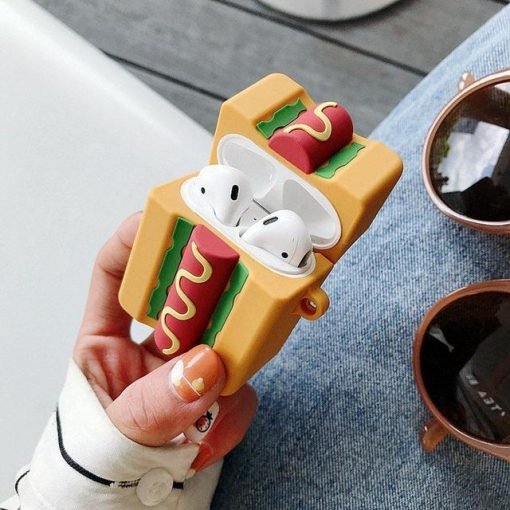 Hot Dog Premium AirPods Case Shock Proof Cover