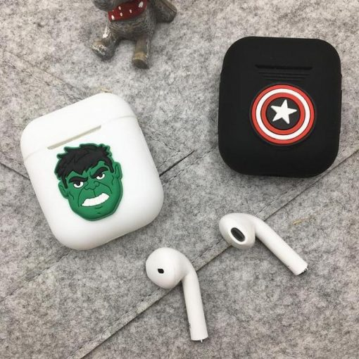 Incredible Hulk White Air Pods Case Shock Proof Cover