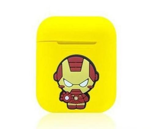 Iron Man Action Yellow AirPods Case Shock Proof Cover