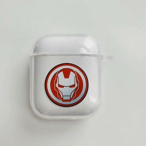 Iron Man Clear Acrylic AirPods Case Shock Proof Cover
