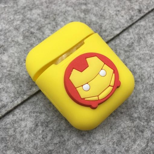 Iron Man Yellow Logo AirPods Case Shock Proof Cover
