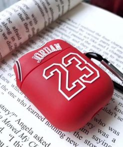Jordan 23 Red AirPods Case Shock Proof Cover