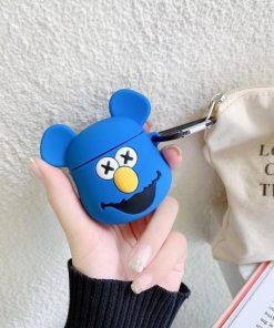 KAWS Blue Fozzy Bear Premium AirPods Case Shock Proof Cover